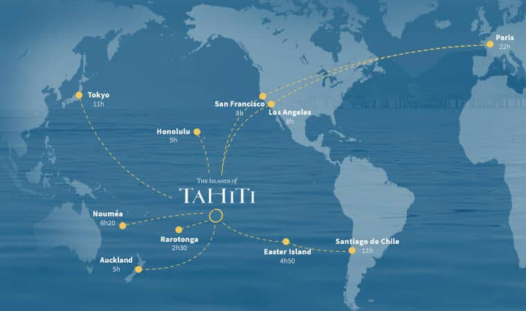where is tahiti french polynesia map