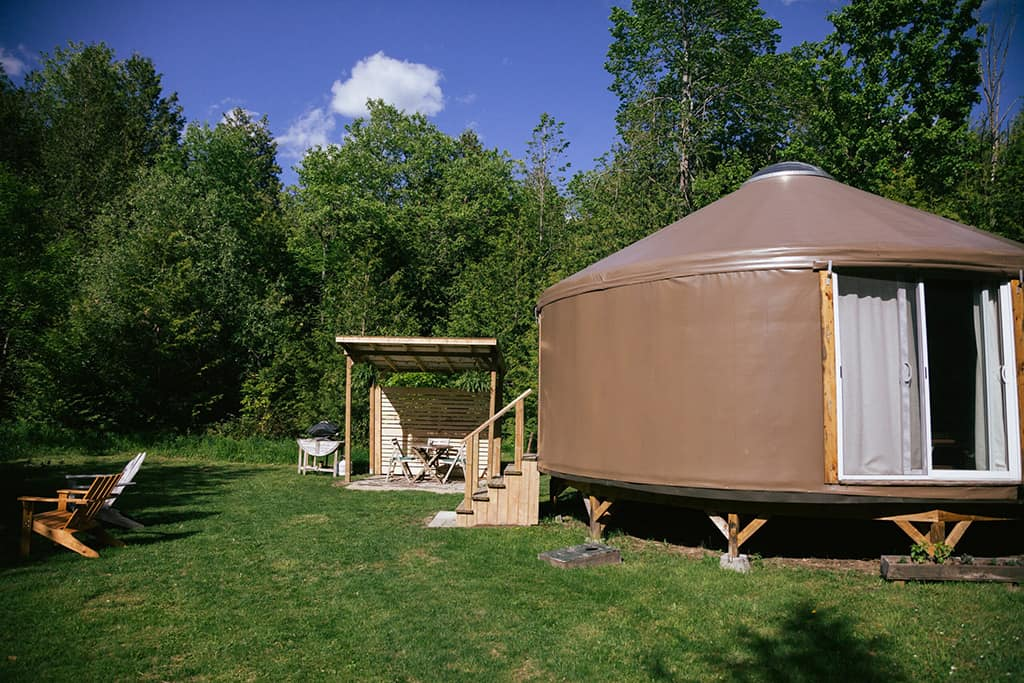 forest yurt in mudoc exterior