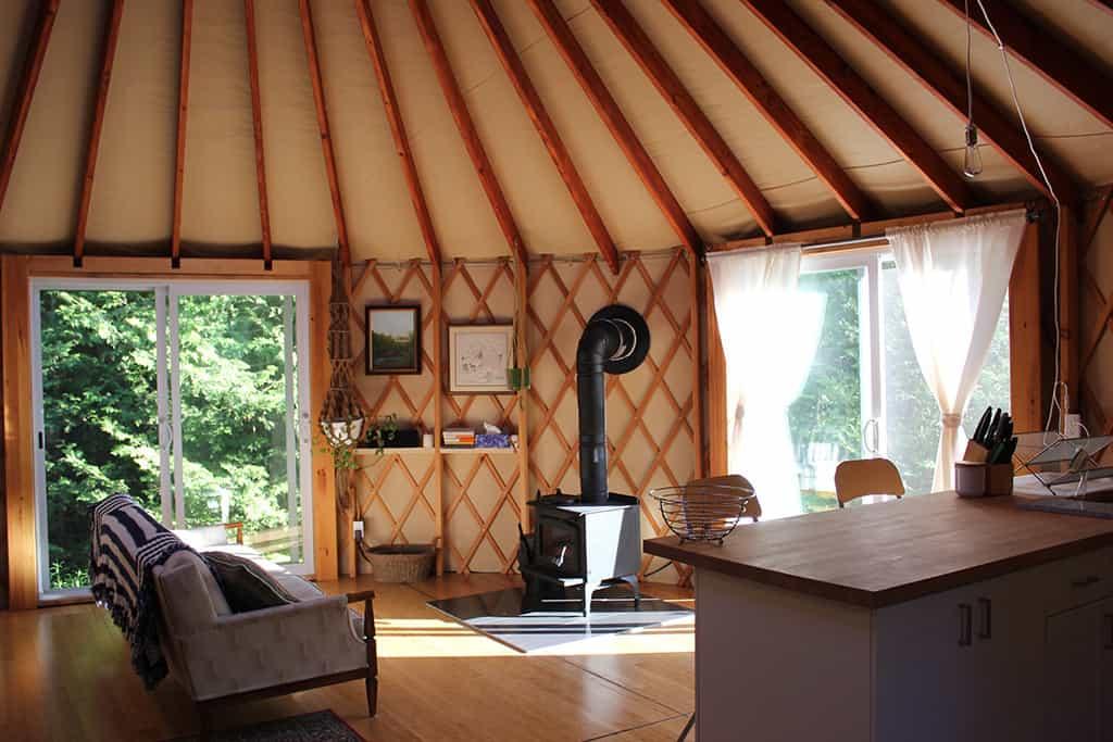 forest yurt in madoc interior design