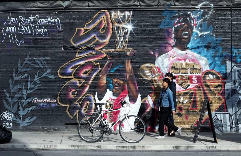 kensington market raptors championship graffiti