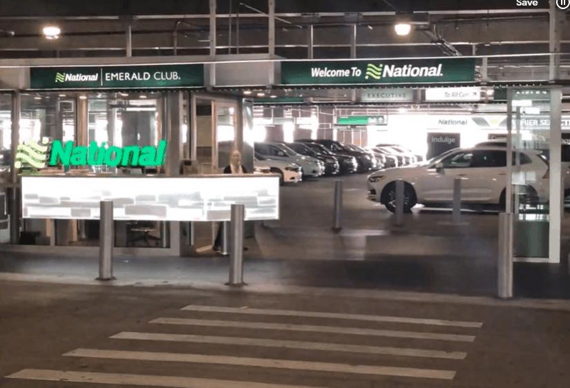 national car rental garage level with emerald club