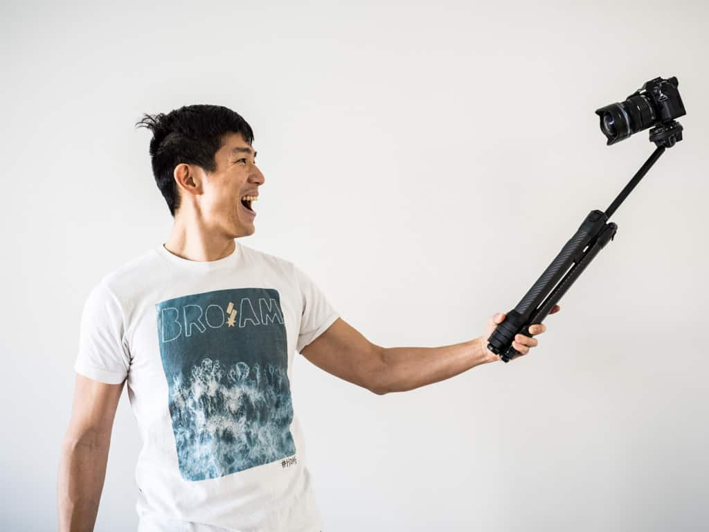 peak design travel tripod as a selfie stick
