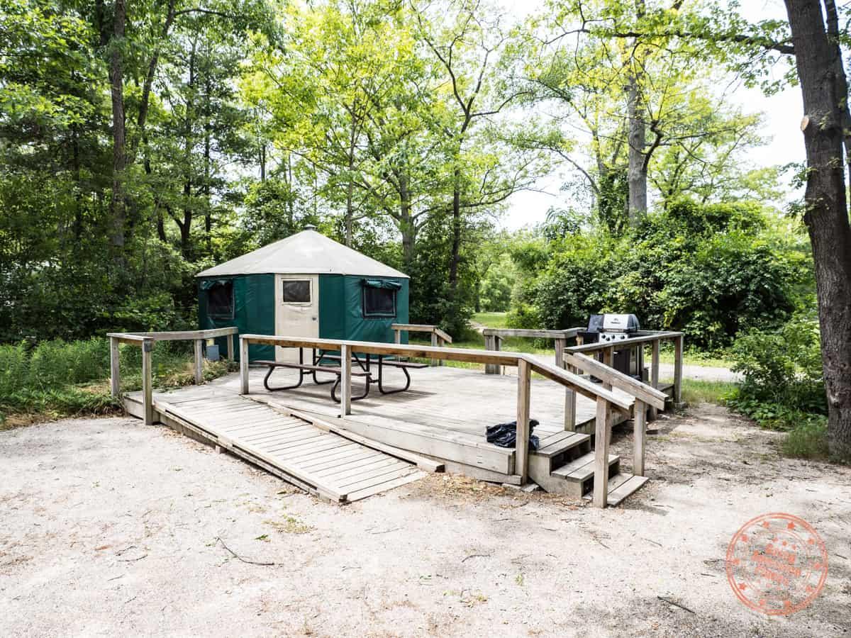 pinery provincial park yurt