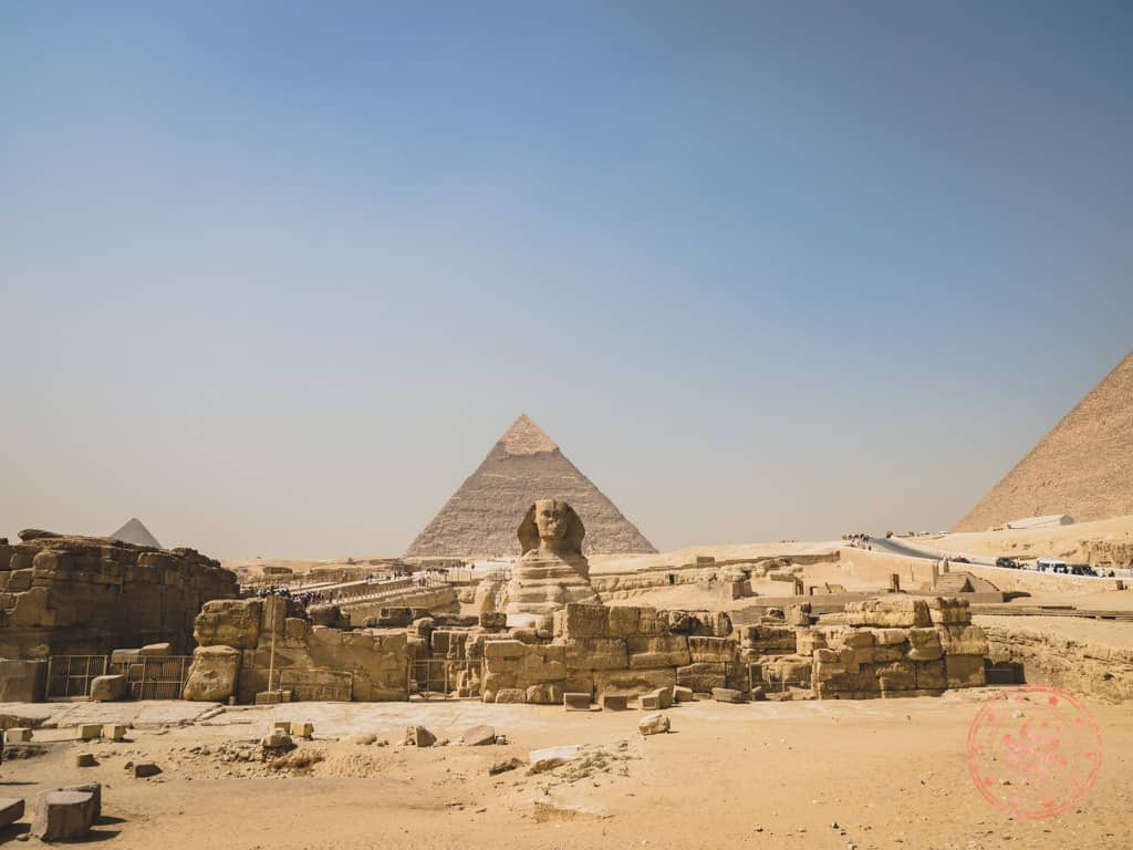pyramid of khafre with sphinx 3 days in cairo