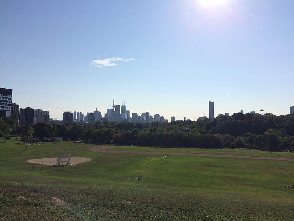 riverdale park east toronto skyline view