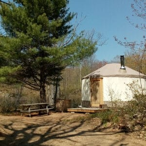 salmon river wilderness camp exterior yurt camping in ontario