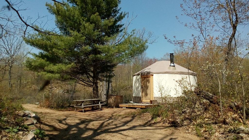 salmon river wilderness camp exterior yurt camping in ontario