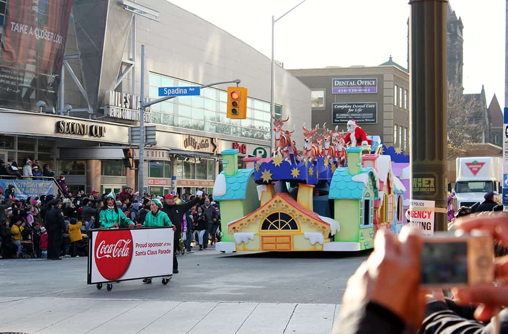 santa clause parade in toronto