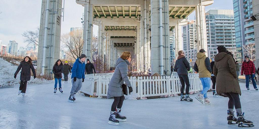 the bentway toronto skating