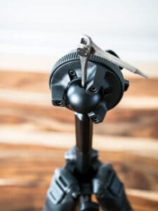how to remove the ball head of the peak design travel tripod in carbon fiber