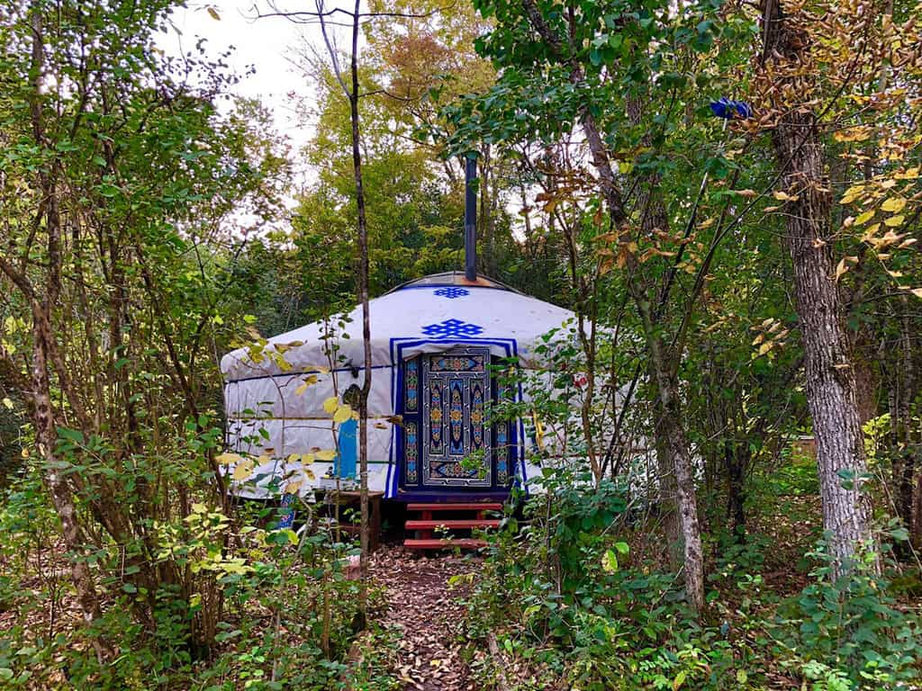 wyldwood sojourn yurt in ontario exterior