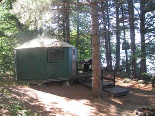 algonquin archray yurt campsite exterior
