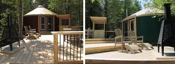 bruce peninsula national park yurt deck exterior