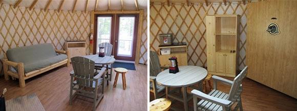 bruce peninsula national park yurt interior