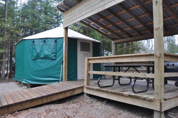 macgregor point provincial park yurt in ontario