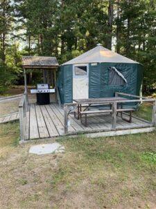 pancake bay provincial park yurt in ontario