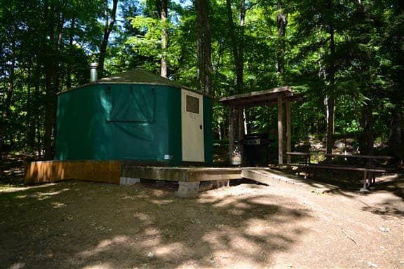 silent lake provincial park ontario yurt