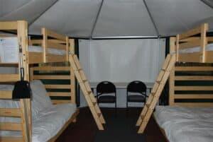 charleston lake yurt interior