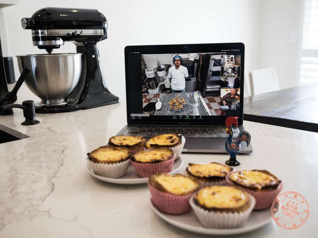 pastel de nata virtual cooking class with pastelaria batalha in lisbon