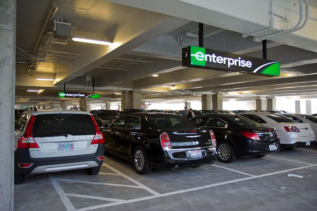 enterprise car rental parking garage