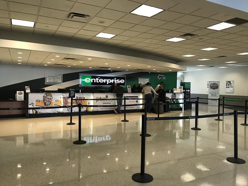 enterprise promo code car rental check in counter