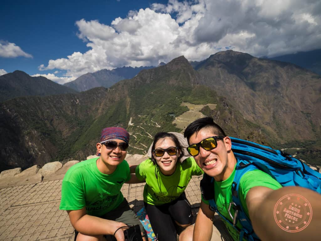 group photo on huayna picchu trail