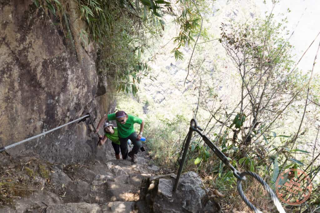 switchback stairclimb up huayna picchu mountain