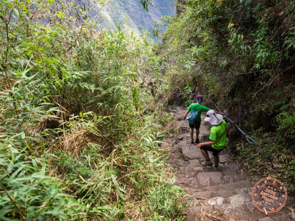 huayna picchu descent