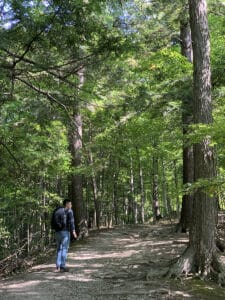 hiking the walking trails of kortright conservation centre