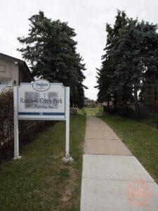 mapes park entrance sign