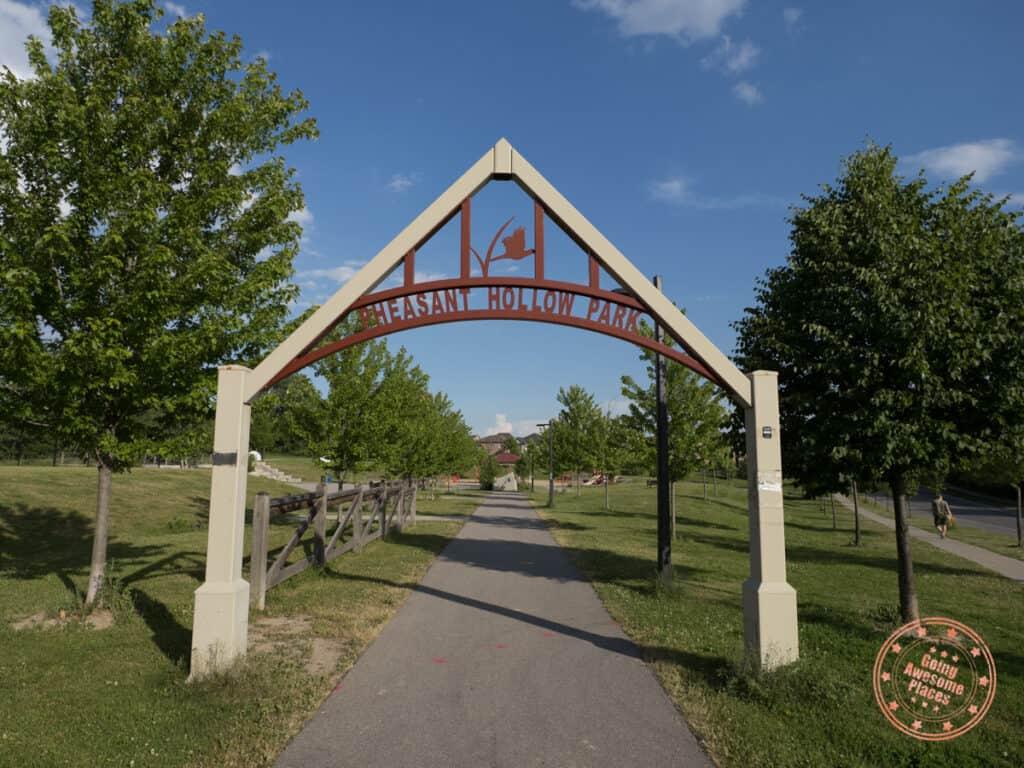 pheasant hollow park entrance