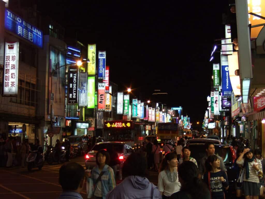 Shillin Night Market in Taipei