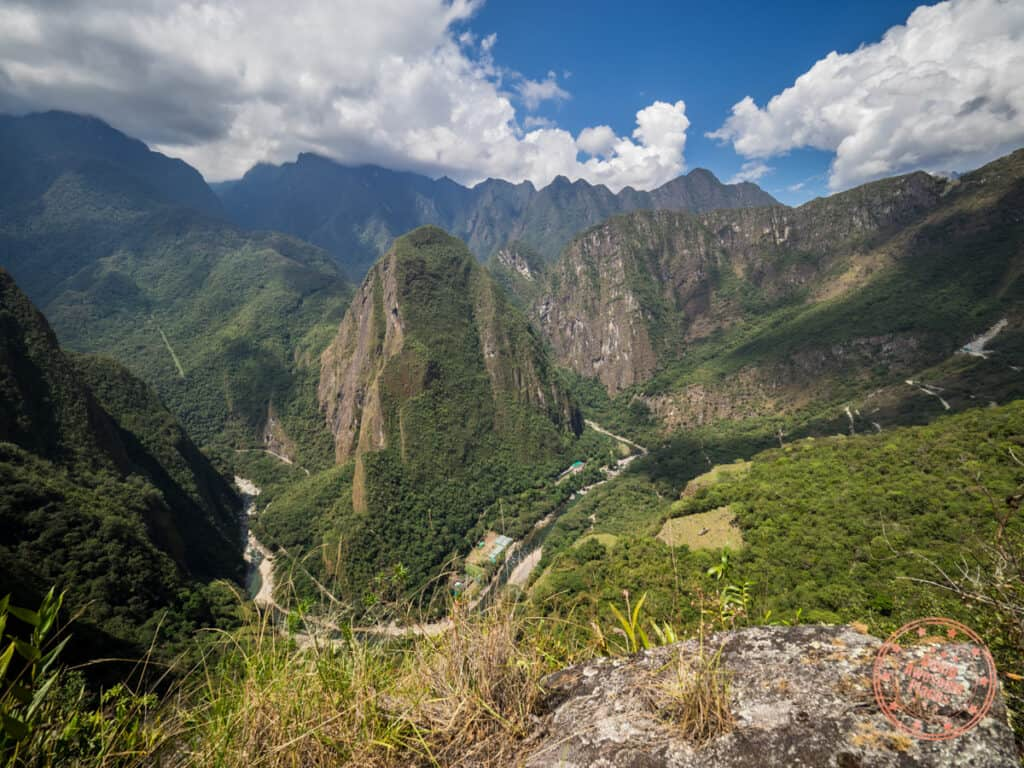 view of urubamba canyon at the start of wayna picchu