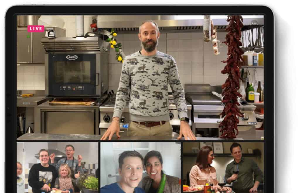withlocals example of the virtual cooking classes livestream experience online