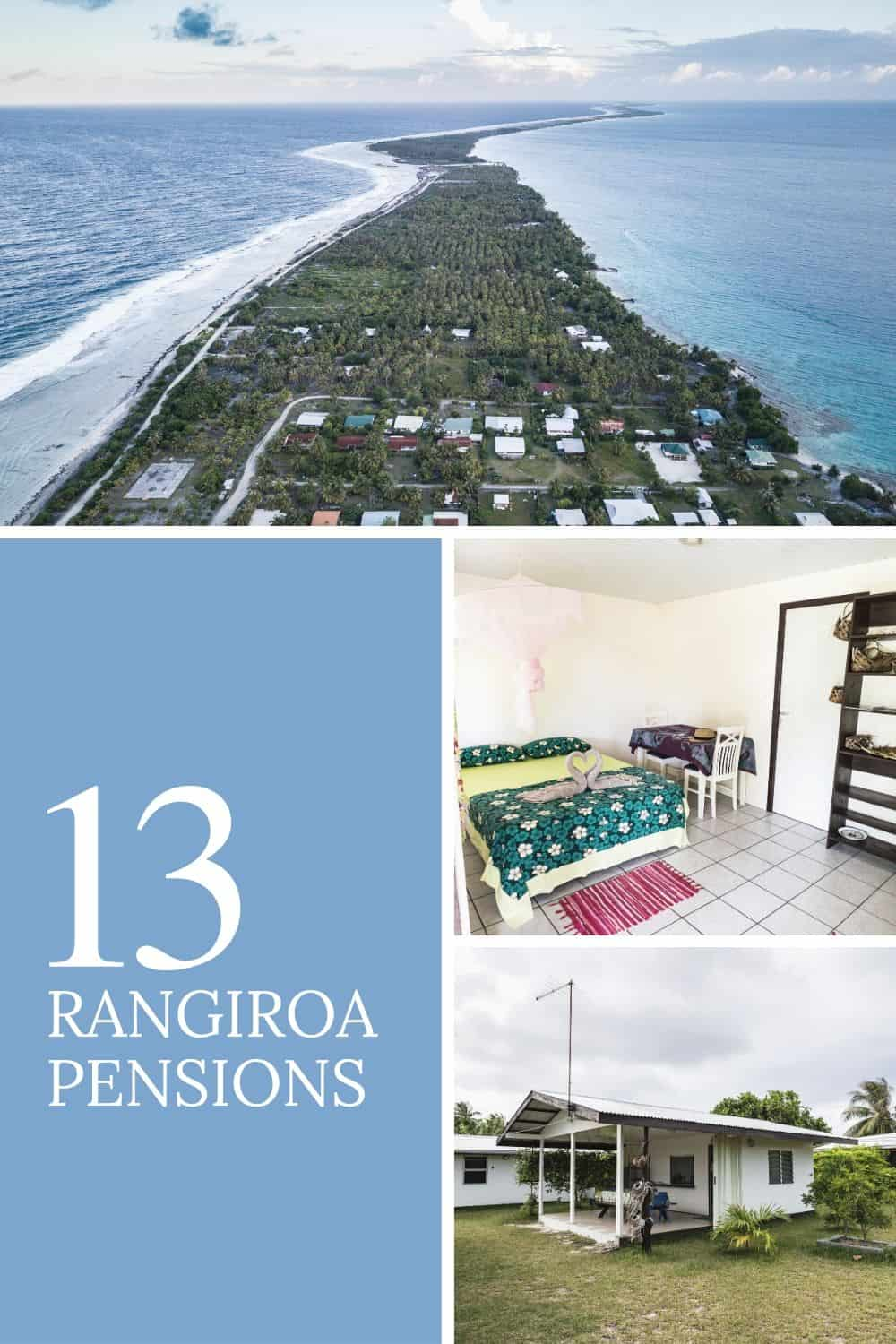 French Polynesia Rangiroa Pensions - Where To Stay Guide