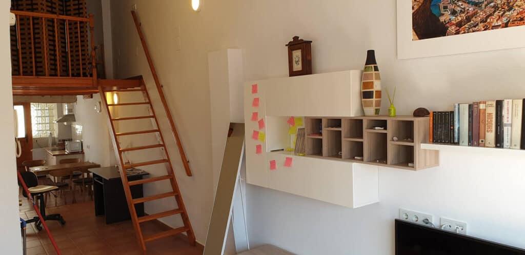 alicante airbnb penthouse loft interior