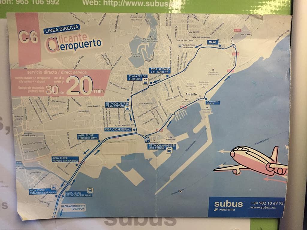 alicante c6 bus map