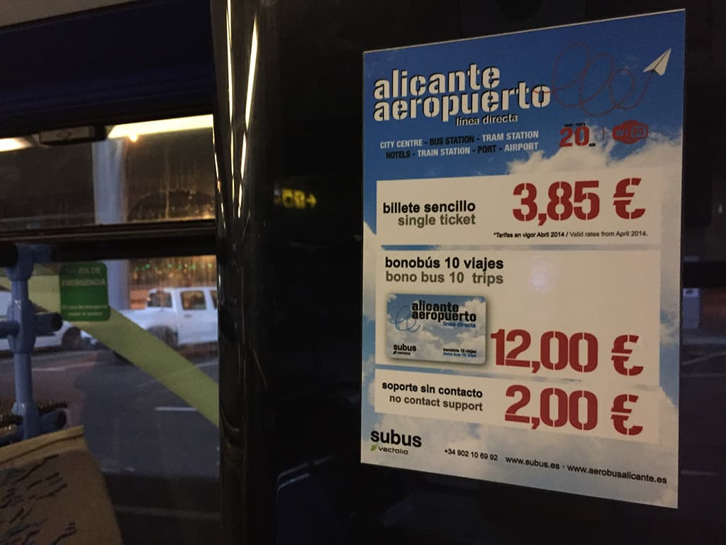 alicante c6 bus price poster