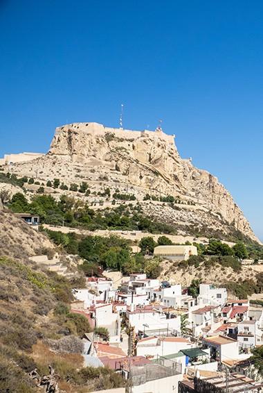 santa barbara castle castillo in alicante spain