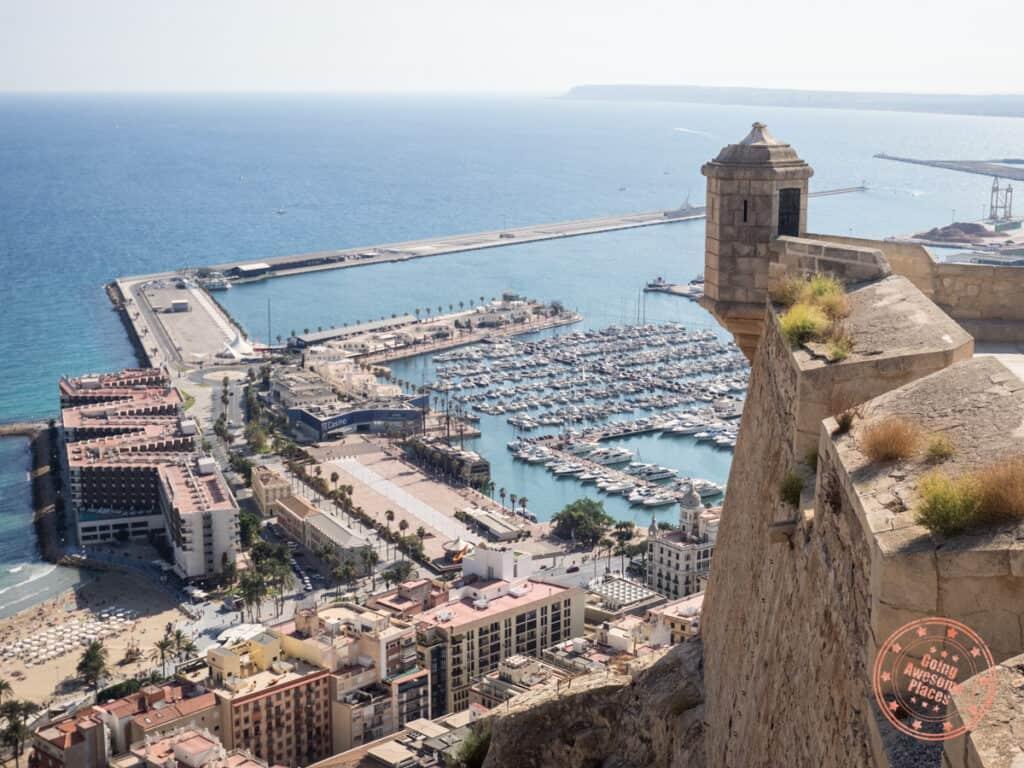 alicante santa barbara castle view of waterfront
