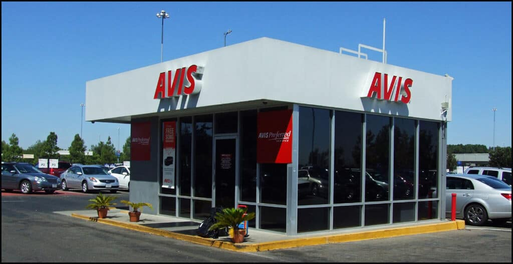 avis car rental preferred customer booth