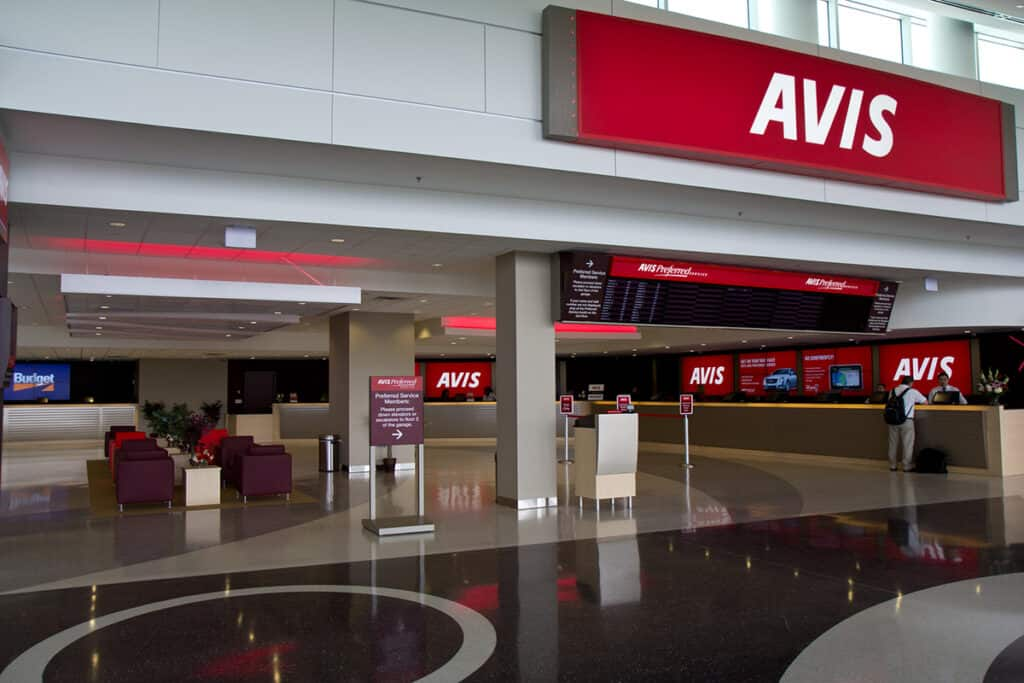 avis awd codes and rent a car airport location