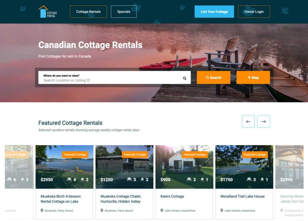 cottage portal website
