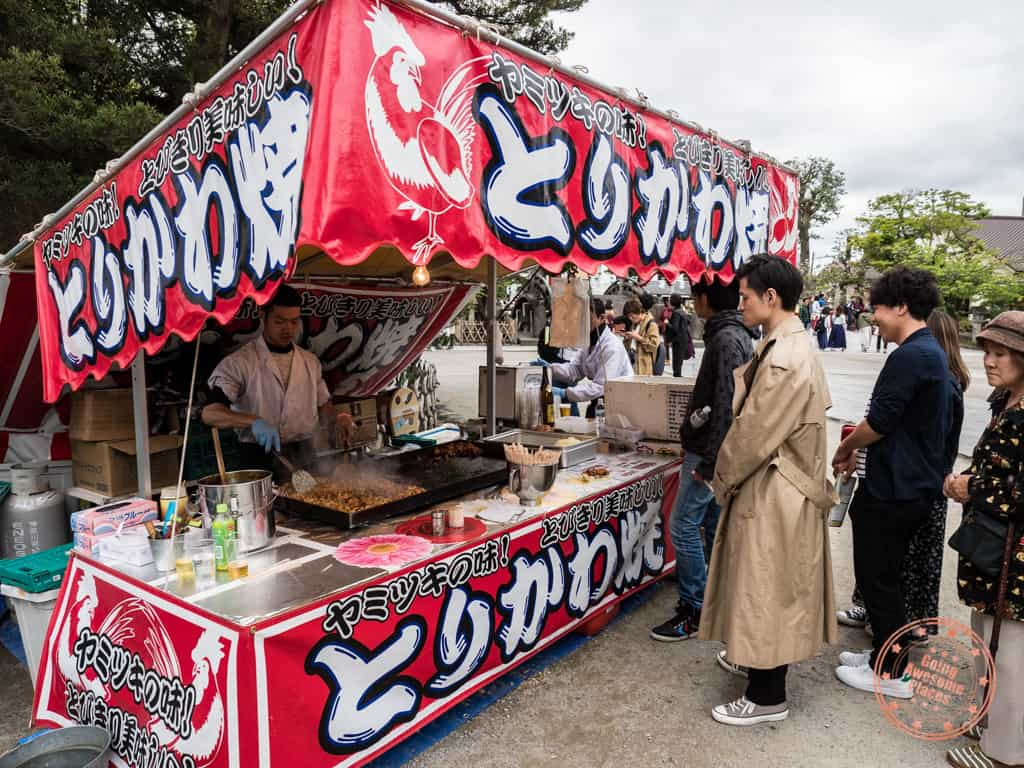 food stalls at kamakura shrine