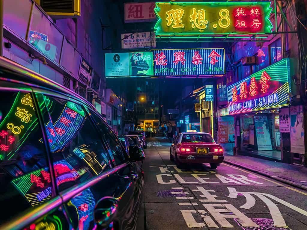 neighbourhood of jordan at night in where to stay in hong kong