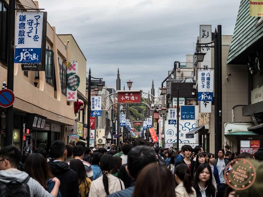 kamachi dori pedestrian street in kamakura