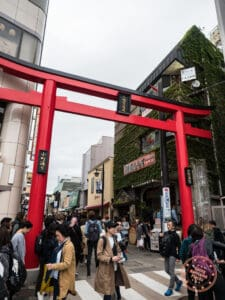 kamachi street torii gate in kamakura day trip itinerary