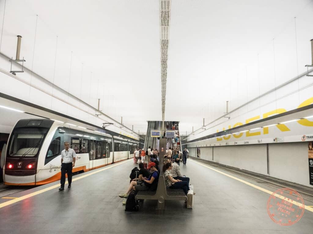 luceros tram station in alicante