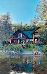 northern edge algonquin facilities with cabin and surrounding forest