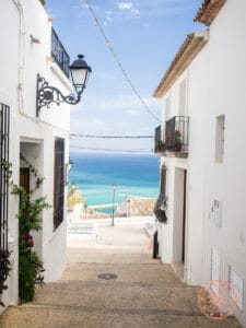 picturesque town of altea and the mediterranean sea